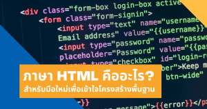 ภาษา HTML คืออะไร สำหรับมือใหม่เพื่อเข้าใจโครงสร้างพื้นฐาน